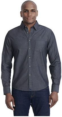 UNTUCKit Classic Chambray Shirt (Grey) Men's Clothing