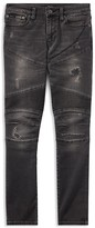 Ralph Lauren Boys' Distressed Skinny Moto Jeans - Big Kid