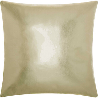Verlaine Mina Victory Couture Natural Hide Metallic Leather Throw Pillow