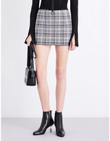 Off-White Checked high-rise woven skirt