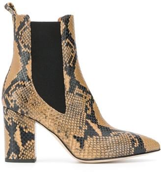 Paris Texas Snakeskin-Print Boots