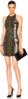 Balmain Snake Print Halter Dress