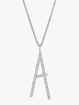 Mimi So Type Letter Pave &A& Pendant