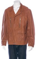 Michael Kors Leather Utility Jacket w/ Tags