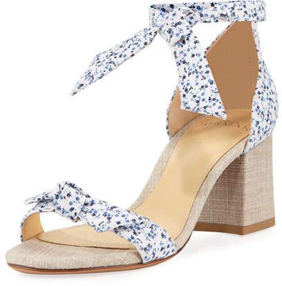 Alexandre Birman Clarita Printed Fabric 60mm Sandal