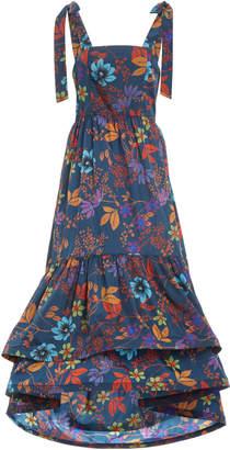Alexis Genovesa Pleated Crepe Dress