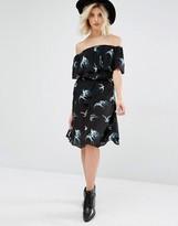 Gat Rimon Topaz Swallow Print Skirt