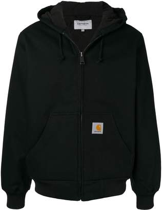 Carhartt WIP coated zip-up hoodie
