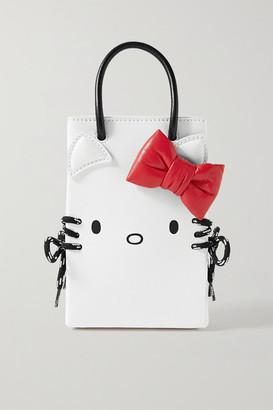 Balenciaga Hello Kitty Mini Printed Leather Shoulder Bag - White