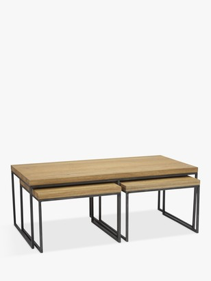John Lewis & Partners Calia Coffee Table with Nest of 2 Tables