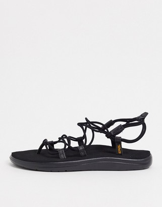 Teva Voya Infinity lace up sandals in black