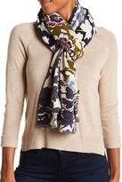 Hinge Floral Shadow Block Wrap Scarf