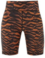 The Upside Tiger-print High-rise Cycling Shorts - Womens - Animal
