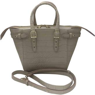 Aspinal of London Grey Patent leather Handbags
