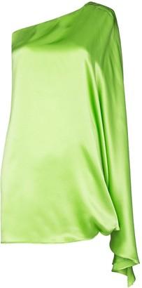 BERNADETTE One-Shoulder Silk Mini Dress