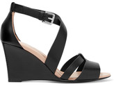 Tod's Leather Wedge Sandals - Black