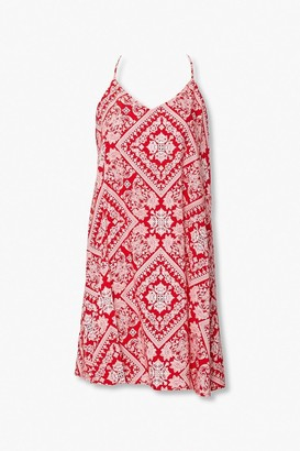 Forever 21 Ornate Print Mini Dress