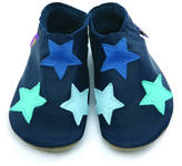 Starchild shoes Boys Or Girls Soft Leather Baby Shoes Navy Stars