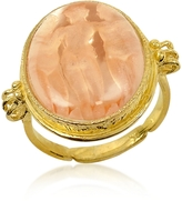 Tagliamonte Three Graces - 18K Gold Rose Mother of Pearl Cameo Ring