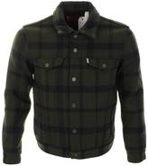 Levi's Levis Wool Trucker Jacket Green