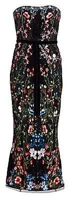 Marchesa Women's Strapless Sequin Embellished Cocktail Dress