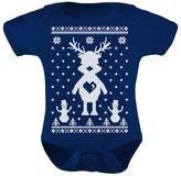 TeeStars - Reindeer Love Ugly Christmas Sweater Xmas Grow Vest Baby Onesie