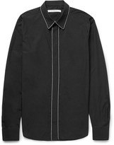Givenchy - Slim-fit Chain-trimmed Cotton-poplin Shirt