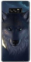 Phone Case Cover for Samsung Galaxy Note 8, Staron 3D Emboss Fashion Cartoon Ultra Thin Lightweight Soft TPU Shockproof Anti-Scratch Case Cover for Samsung Note 8 (Wolf)
