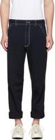 Comme des Garcons Navy Workstitch Trousers
