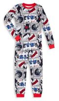 Petit Lem Little Boy's Two-Piece Baseball Printed Roundneck Tee & Pants Set