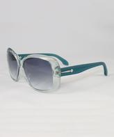 Calvin Klein Sea Crystal & Gray Gradient Oversize Sunglasses - Women