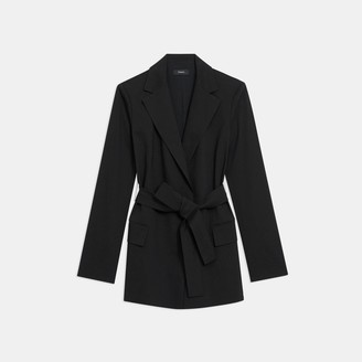 Theory Belted Blazer in Good Linen