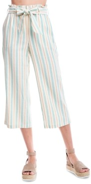 Fever Striped Cropped Wide-Leg Pants
