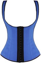Camellias Corsets Camellias Women's 3 Hook Long Deportiva Latex Vest Waist Training Body Shaper, CA-1991-Blue-3XL