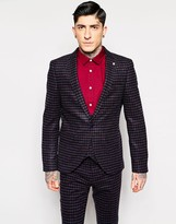 Noose & Monkey Brushed Check Suit Jacket With Stretch In Super Skinny Fit