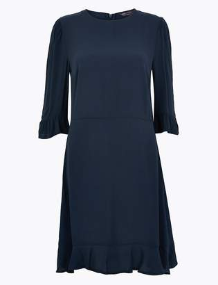 M&S CollectionMarks and Spencer Frill Detailed Fit and Flare Mini Dress