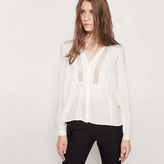 Maje Blouse with lace insets