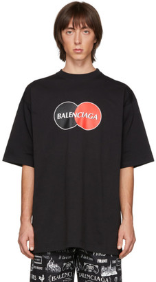 Balenciaga Black Uniform Logo T-Shirt