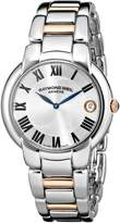 "Raymond Weil Women's 5235-S5-01659 ""Jasmine"" Stainless Steel Watch with Two-Tone Link Bracelet"