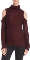 RD Style Cold Shoulder Turtleneck Sweater
