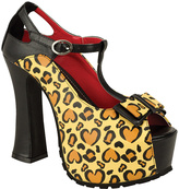 T.U.K. Brown Love Leo Super Platform Pump