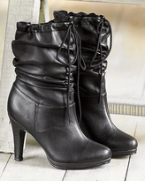 Slouchy mid-calf boot