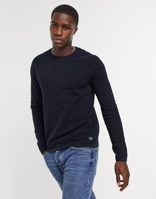 Jack and Jones Essentials sweater with raglan sleeve navy