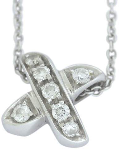 Tiffany & Co. 18K White Gold with Diamond Necklace