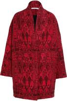 IRO Oversized Jacquard Coat - Red