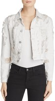 Hudson Garrison Distressed Cropped Denim Jacket