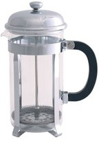 Kitchen Craft Le'Xpress 8-Cup Glass / Stainless Steel Cafetière, 1 Litres - Chrome Plated