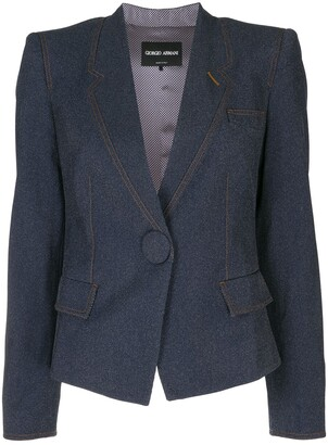 Giorgio Armani Fitted Cropped Blazer