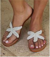 Aspiga Starfish White Beaded Sandals