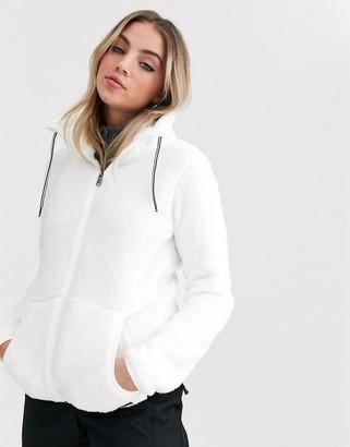 Protest Riri full zip fleece in white